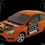 publicidad en autos móvil