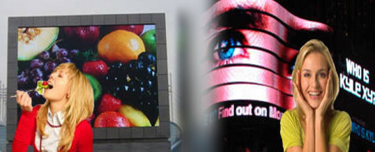 publicidad exterior con pantallas gigantes led